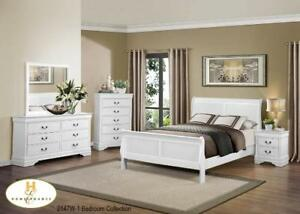 8pc Queen Bedroom Set $899 Cherry,Wh,Blk (Bed $299) Item #2147