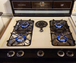 "30"" Gas Range/Stove. Caloric Heritage Series. Almond, works well"