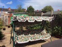 Sorry item sold.---Excellent condition, Garden swing hammock very comfortable.