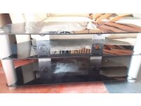 Black Glass Large TV stand, only £20.00