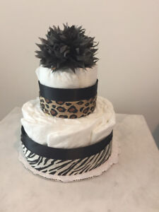 Cute & Classy Diaper Cakes! 2-tier for $25!