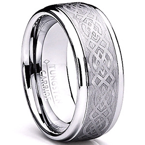 8 MM mens tungsten ring