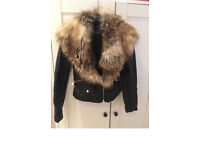 River Island faux fur leather jacket as new