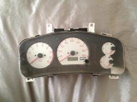 Evo white lancer clocks speedometer