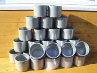 Silver Ceramic Plant Pots - 50p Each - Approx Height - 10cm - Approx Width - 12cm