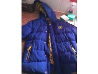 Boys blue winter coat