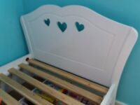Single bed with storage drawer, girls solid bed