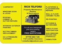 PROMPT RELIABLE LOCAL HANDYMAN WEST END GLASGOW