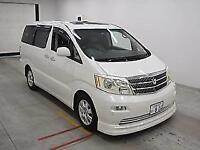 TOYOTA ALPHARD 3.0 MZG VERY HIGH SPEC FEBRUARY 2005 7 LEATHER SEATS GRADE 4B