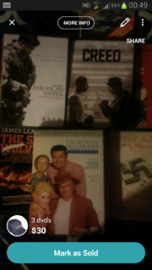 Movies, books, wireless racing wheel,hockey collection