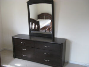 Solid Wood Dresser with mirror, 250.00