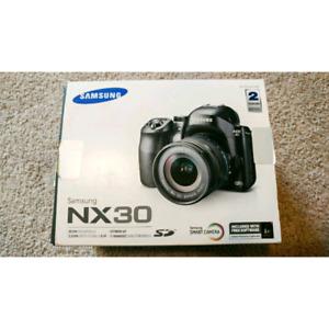 Samsung NX30 20MP DSLR camera with 18-55mm lens