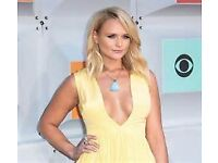 Miranda Lambert Tickets (x2), SEC Armadillo, Glasgow, 21/8 - Good seats in Stalls