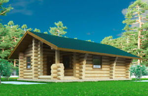 Log Cabin (cottage) 500 sqf