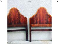 Vintage Art Deco Twin Single Bed Headboards By G T Rackstraw