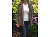 Women's Vintage suede leather jacket brown size 12