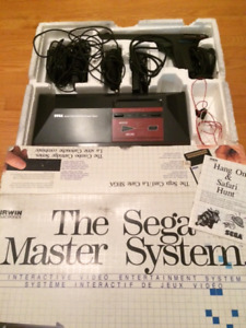 SEGA master system console and games