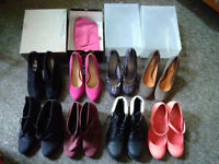 8 pairs of womens heels, size 7 / 40