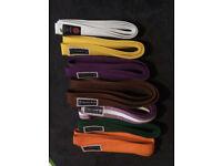 Set or individual karate belts for sale