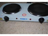 KOBE 240V Hot Plate (two cast-iron heating elements), very good condition (used once)