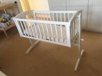 Excellent condition rocking Baby crib