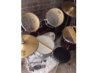 Session Pro, Drum Kit, in cherry red