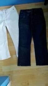 3/4 women's summer jeans size 8