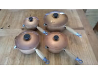 Le Cruset cast iron saucepan set