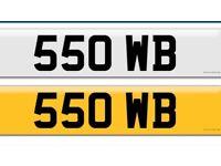 🚗🚗Unique Number Plate. 550 WB🚗🚗