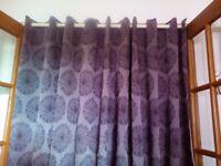 Brown curtains 66x90