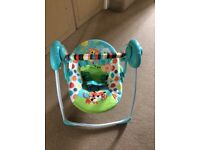 Foldable baby swing
