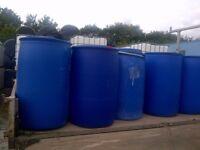 Multiple use 220 L water barrel