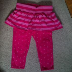 GAP 6-12 months leggings with attached skirt