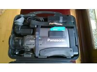 Panasonic NV-MS5B S-VHS Video Camera made in Japan. Excellent condition,. Includes 12 x SVHS Tapes.