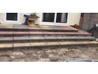 Garden patio slabs