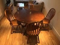 Dining Table and Chairs (4 chairs) - Solid Wood, High Quality - Priced for quick sale