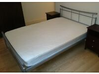 Metal Double Bed Frame. (x2 available)