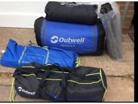 Outwell Montana 6 tent with awning floor sheet etc! Full kit 600£+ new!