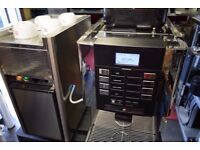 Commercial Bean to cup Coffee machine LaCimbali M1 + Milk fridge + Cups warmer