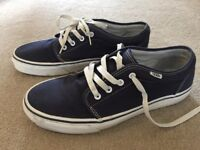 Navy Blue Vans trainers size 9