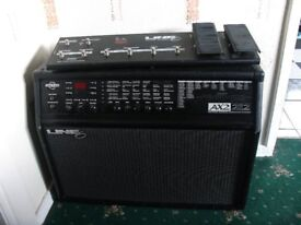 Line6 AX2 amp and Floorboard