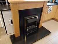 Fire surround with electric fire