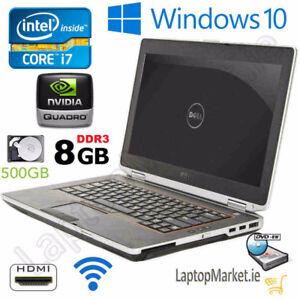 Dell intel Core i7 Win 10 W 8gb Ram 500gb HDD WiFi Laptop $299