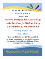 Yard Sale   Cornwall civic centre today 9-11
