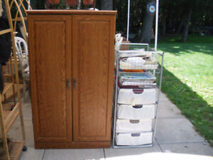 Linen cupboard or Pantry and Ikea basket/frame set