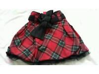 Tartan tutu skirt pumpkin patch 24 months 18-24 girls winter party