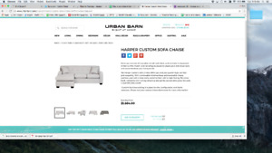 Urban Barn Custom sofa chaise