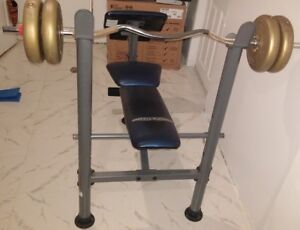 BENCH PRESS AND WEIGHTS WITH BAR ARE FOR $200.