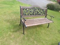 Garden bench 4ft long Strong and sturdy - Cast iron