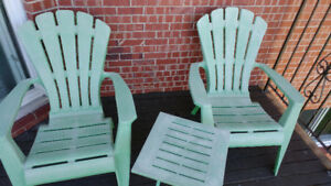 Reduced Price: Muskoka Chair and Table
